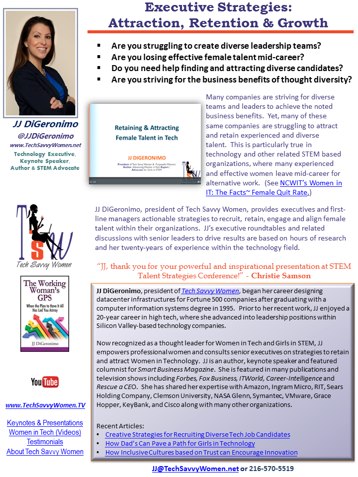 Executive Strategies for Attraction, Retention & Growth - Tech Savvy Women