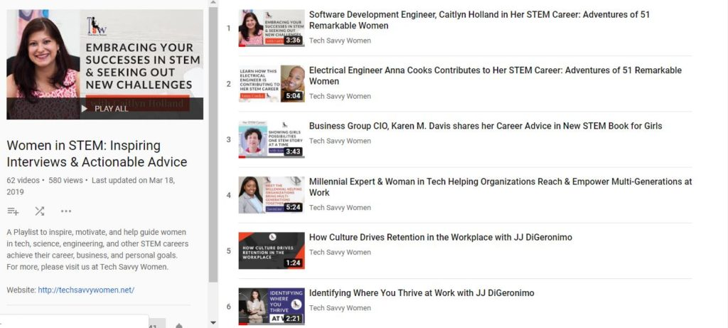 women in tech, youtube channel
