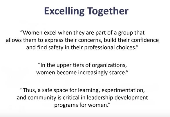excel together, women in tech